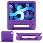 EVA Bumper Protective Case with Handle & Holder For iPad Air 2020 10.9(Purple)