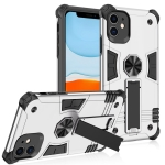 Shockproof TPU + PC Protective Case with Invisible Holder For iPhone 11 Pro(Silver)