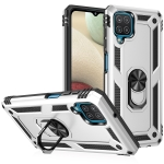 For Samsung Galaxy A12 5G Shockproof TPU + PC Protective Case with 360 Degree Rotating Holder(Silver)