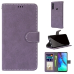 For Motorola Moto G Stylus(2020) Retro Frosted Horizontal Flip PU Leather Case with Holder & Card Slots & Wallet & Photo Frame(Purple)