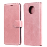 For Xiaomi Redmi Note 9T / Note 9 5G Classic Calf Texture PU + TPU Horizontal Flip Leather Case with Holder & Card Slots & Wallet(Rose Gold)