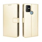 For Infinix Hot 10 / X682 Retro Crazy Horse Texture Horizontal Flip Leather Case with Holder & Card Slots & Lanyard(Gold)