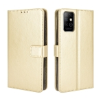 For Infinix Note 8 / X692 Retro Crazy Horse Texture Horizontal Flip Leather Case with Holder & Card Slots & Lanyard(Gold)