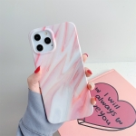 Marble Pattern TPU Protective Case For iPhone 12 Pro Max(Light Red)