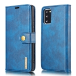 For Samsung Galaxy Note20 DG.MING Crazy Horse Texture Flip Detachable Magnetic Leather Case with Holder & Card Slots & Wallet (Blue)