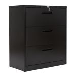 [US Warehouse] Heavy Duty Hanging Lateral Metal Storage Filing Cabinet with 3 Drawers