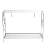 [US Warehouse] FCH Toughened Glass Panel Console Table, Style: Circle Shape, Size: 102×30.5x76cm