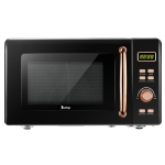 [US Warehouse] 120V / 60Hz 700W  0.7Cuft Retro Microwave with LED Display & Golden Handle