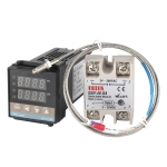 REX-C100 Thermostat + Thermocouple + SSR-25 DA Solid State Module Intelligent Temperature Control Kit