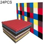 24 PCS Recording Studio Drum Room Acoustic Foam, Random Color Delivery