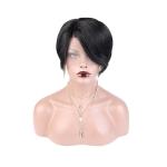 Toocci Women Short Pixie Cut Brazilian Human Hair Wig, Length: 8 inch