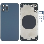 Back Housing Cover with Appearance Imitation of iPhone 12 for iPhone X(Blue)
