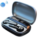 Original Lenovo QT81 TWS IPX4 Waterproof CVC8.0 Noise Reduction Bluetooth Earphone with Charging Box & Three-screen Power Digital Display, Support Touch & HD Call & Master-slave Switching & Power Bank(Black)