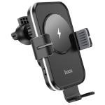 hoco CA80 Buddy Smart Wireless Charging Car Holder (Black Grey)