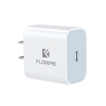 FLOVEME 20W PD 3.0 Travel Fast Charger Power Adapter, US Plug (White)