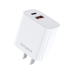 ROCK T43 20W PD USB-C / Type-C + USB Dual Port Travel Charger, CN Plug