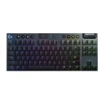 Logitech G913 TKL Wireless RGB Mechanical Gaming Keyboard (GL-Tactile) (Black)