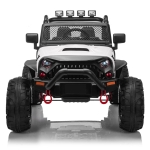 [US Warehouse] 12V Kids Ride On Car 2.4GHz Remote Control Double Drive Jeep Vehicle with MP3 & LED Lights(White)