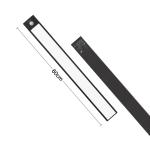 60cm Original Xiaomi YEELIGHT LED Smart Human Motion Sensor Light Bar Rechargeable Wardrobe Cabinet Corridor Wall Lamps (Black)