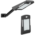 KFZR-007 5W 48 LEDs 600LM IP65 Waterproof Solar Wall Light Mini Sensor Street Light with Three Lighting Modes(Black)