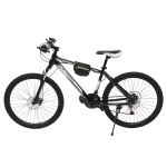 [US Warehouse] 24 inch 21-speed Mountain Bike with Riding Bag(Black White)