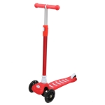 [US Warehouse] Armrest and Height Adjustable Three-wheel Scooter with Light