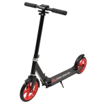 [US Warehouse] Armrest and Height Adjustable Foldable Two-wheel Scooter (Black Red)