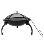 [US Warehouse] ZOKOP 21 inch Charcoal Grill with Charcoal Net &Carrying Bag