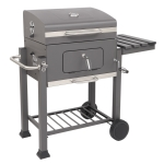 [US Warehouse] ZOKOP Square Oven Charcoal Oven with Plastic Wheel