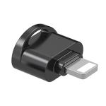 8 Pin to TF Card Adapter Mini TF Card Reader (Black)