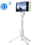 AF15 Honor Bluetooth 3.0 Mobile Phone Adjustable Bluetooth Wireless Selfie Stick Self-timer Tripod(White)