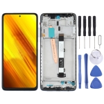 Original LCD Screen and Digitizer Full Assembly With Frame for Xiaomi Poco X3 NFC / Poco X3 (Black)