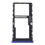 SIM Card Tray + SIM Card Tray / Micro SD Card Tray for Motorola Moto G9 Play/Moto G9 (India) (Blue)