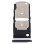 SIM Card Tray + SIM Card Tray / Micro SD Card Tray for Motorola One Zoom (Black)