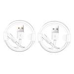 XJ-023 2 PCS USB Male to Micro USB Male Interface Charge Cable, Length: 1m