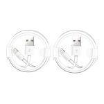 XJ-025 2 PCS USB Male to 8 Pin Male Interface Charge Cable, Length: 1m