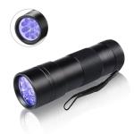 2 PCS LED Ultraviolet Flashlight Pet Cat Dog Urine Virus Detection And Detection Lamp, Random Color Deilvery, Specification: 12uv