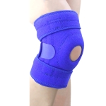 Sports Non-Slip Knee Pads Men And Women Breathable Compression Shock Absorber, Specification: Left Leg (Blue)