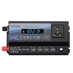 XUYUAN 4000W Car Inverter LED Colorful Atmosphere Light 4 USB Charging Converter, Specification: 12V-220V