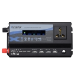 XUYUAN 4000W Car Inverter LED Colorful Atmosphere Light 4 USB Charging Converter, Specification: 24V-220V