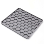 2 PCS Silicone Pet Supplies Sucker Slow Food Pad(Gray)
