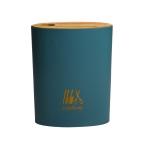 Bamboo Cover Knife Storage Rack Kitchen Multi-Function Rack Oval Large (Dark Blue)