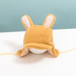 C0232 Cartoon Rabbit Shape Children Hat Winter Lamb Velvet Keep Warm Bomber Hat, Size: Around 50cm(Yellow)