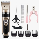 Pet Hair Remover Electric Shaving Haircut Set, Specification: Gold+4 PCS/Set