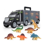 Children DIY Dinosaur Portable Storage Container Truck Model Toy Set