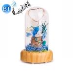 Wishing Bottle LED Night Light Immortal Flower Bluetooth Speaker Desk Lamp, Style: Blue Flower