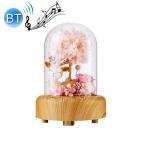 Wishing Bottle LED Night Light Immortal Flower Bluetooth Speaker Desk Lamp, Style: Fawn