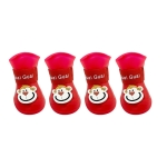 Pet Cartoon Silicone Rain Boots Waterproof Non-Slip Cold-Resistant Dog Shoes, Size: XXL(Red)