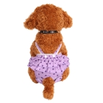 Menstrual Physiological Pants For Pet Dog Polka Dot Skirt And Bib Physiological Pants, Size: XL(Purple)