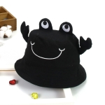 MZ6033 Small Crab Shape Children Basin Hat Cartoon Fisherman Hat, Size: 50cm(Black)
